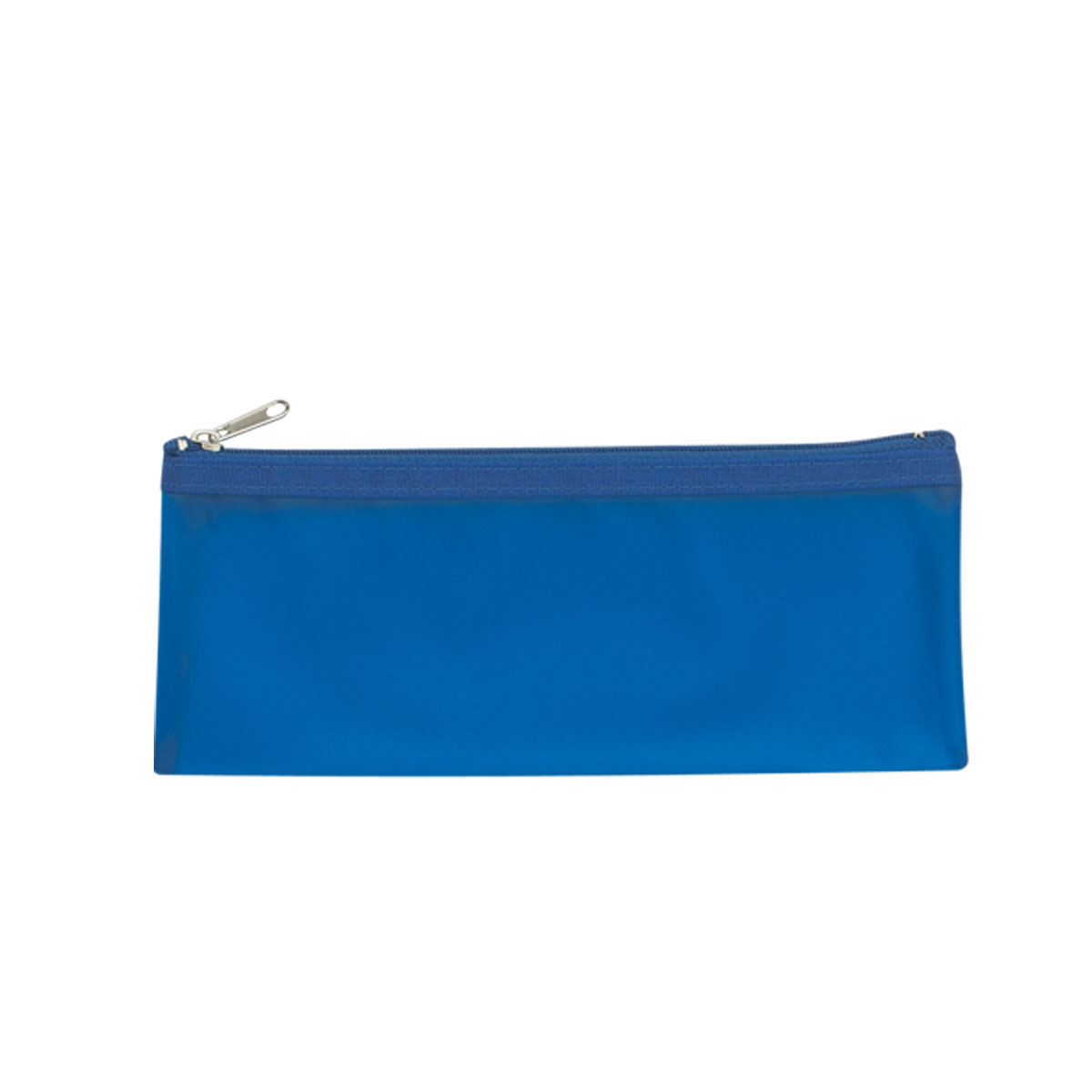 Blue Zippered Pencil Case