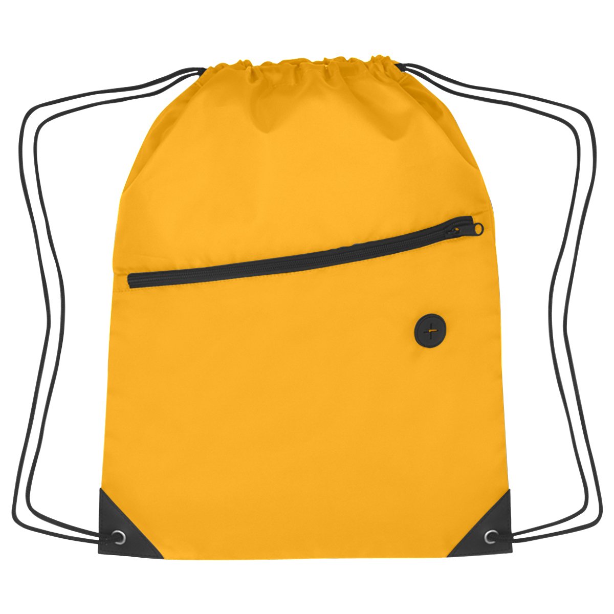 """Athletic Gold Sports Pack With Front Zipper (13.5""""W x 18""""H)"""
