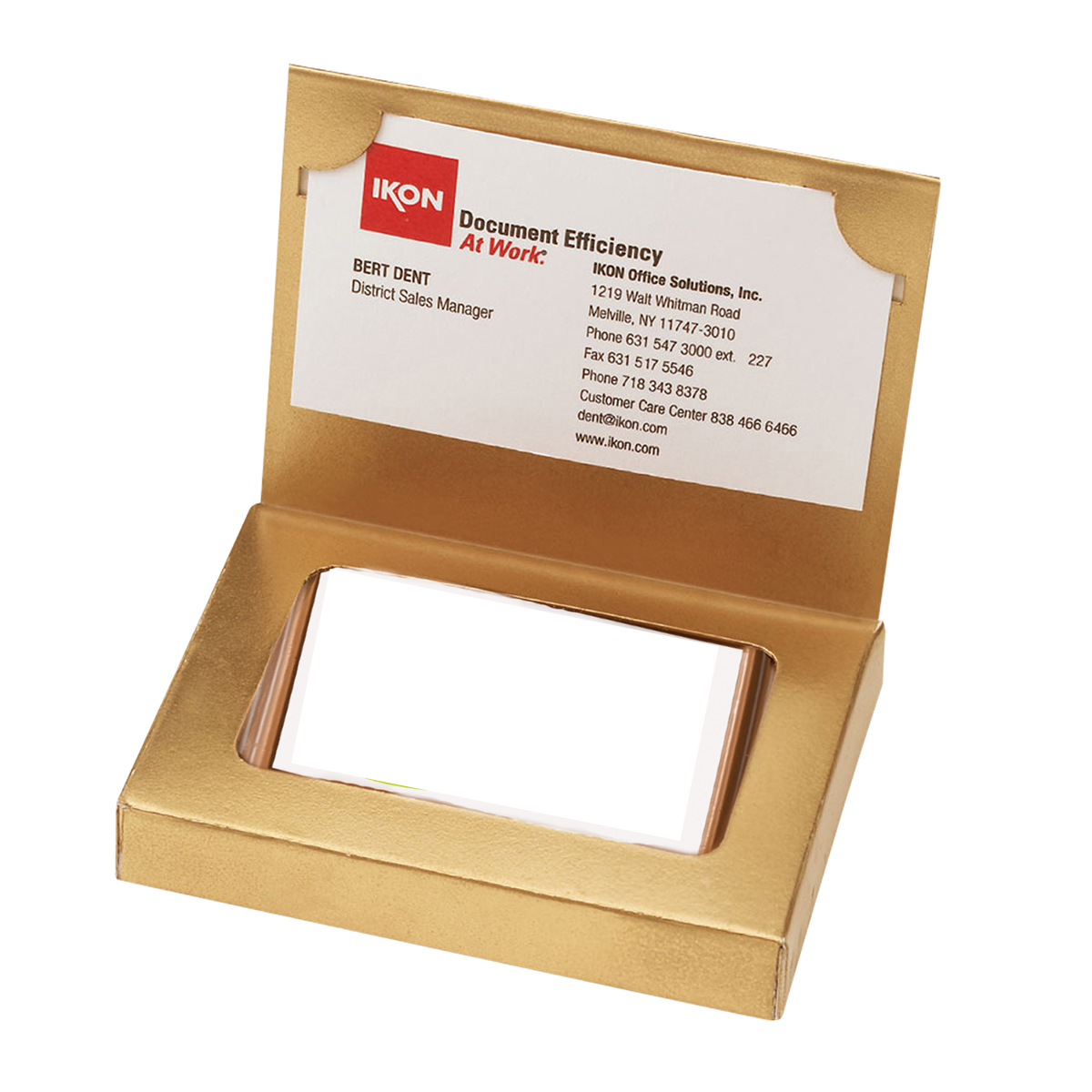 Gold Cookie Business Card Box