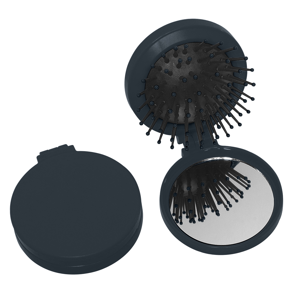 Black Brush And Mirror Compact