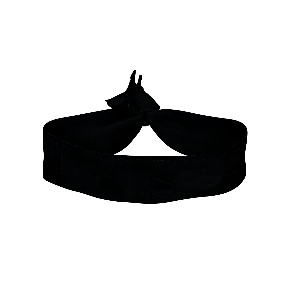 "Black Elastic Fold-Over Wristband (3/4"")"