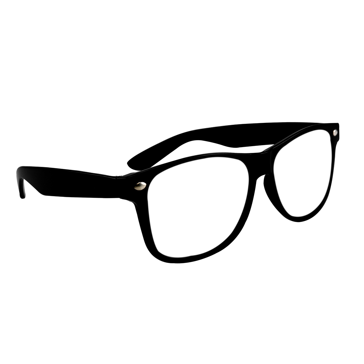 Black Miami Glasses with Clear Lens