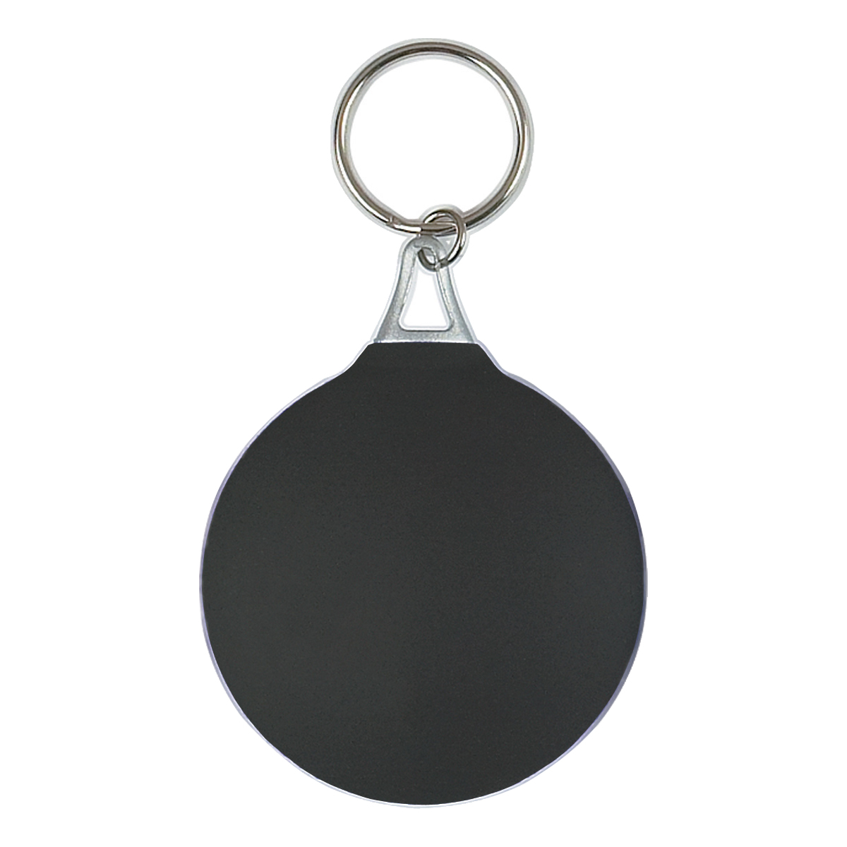 Black Rubber Key Chain With Microfiber Cleaning Cloth