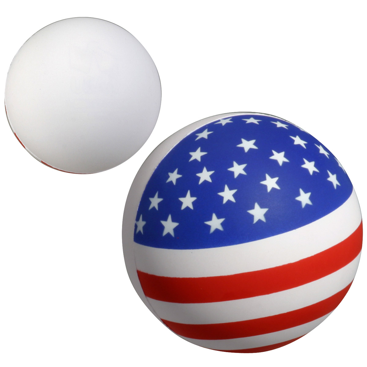 Screen Print 1 Color 1 Location Patriotic Stress Ball