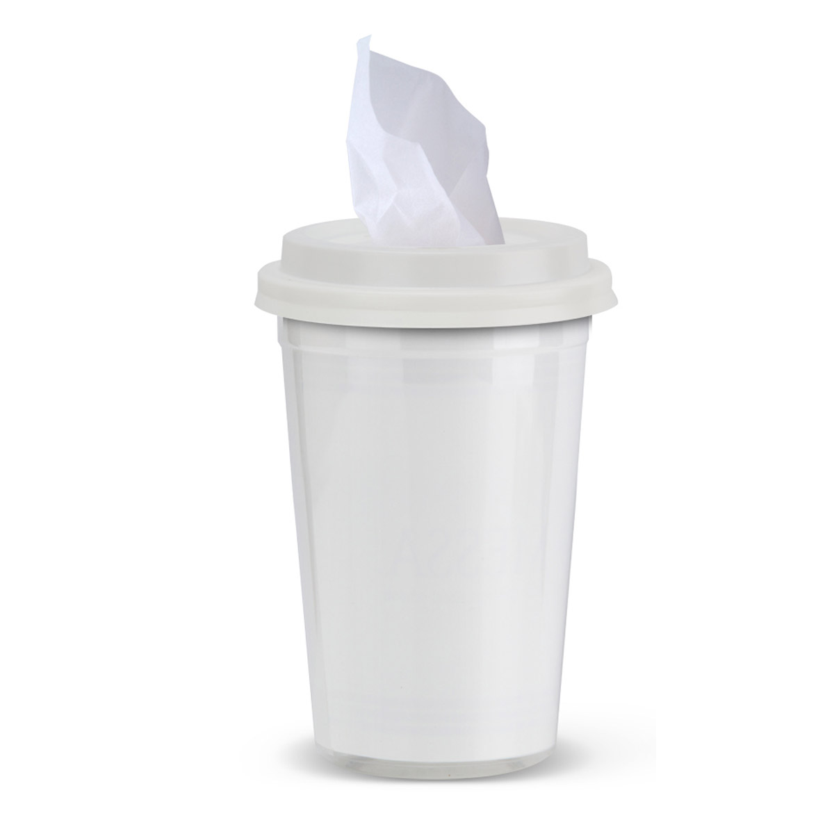 White Tissues To Go Cup