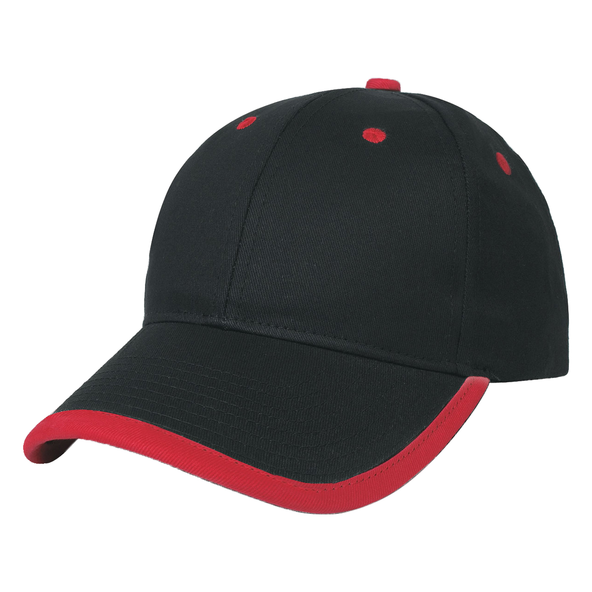 Black w/ Red Accents Price Buster Cap with Visor Trim