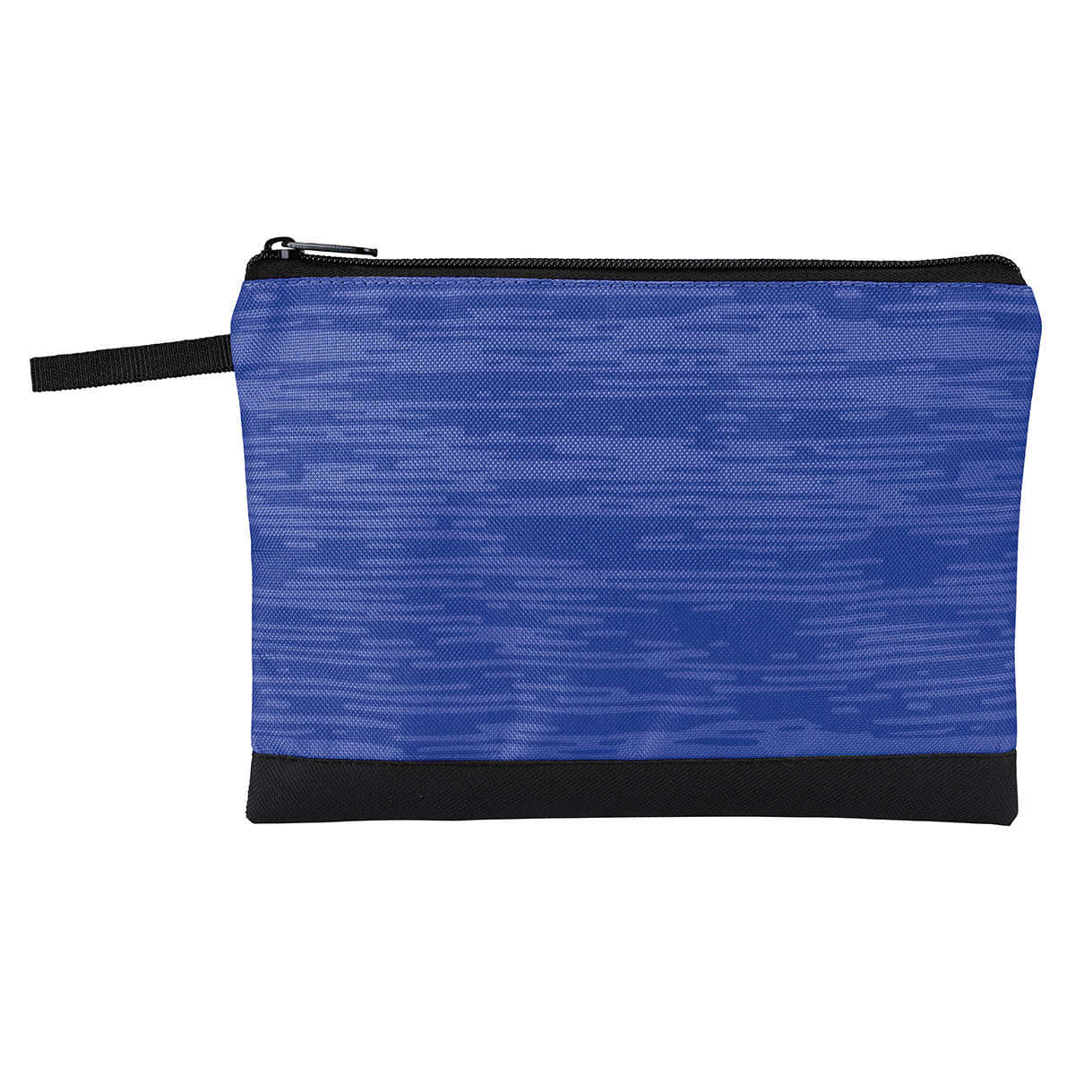 Blue Ripple Print Travel Pouch
