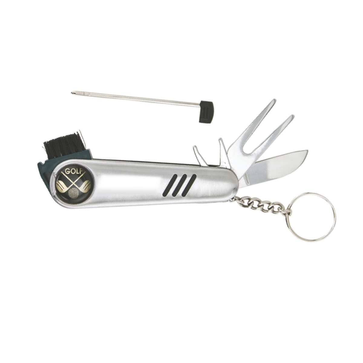 Silver 7-in-1 Golf Tool