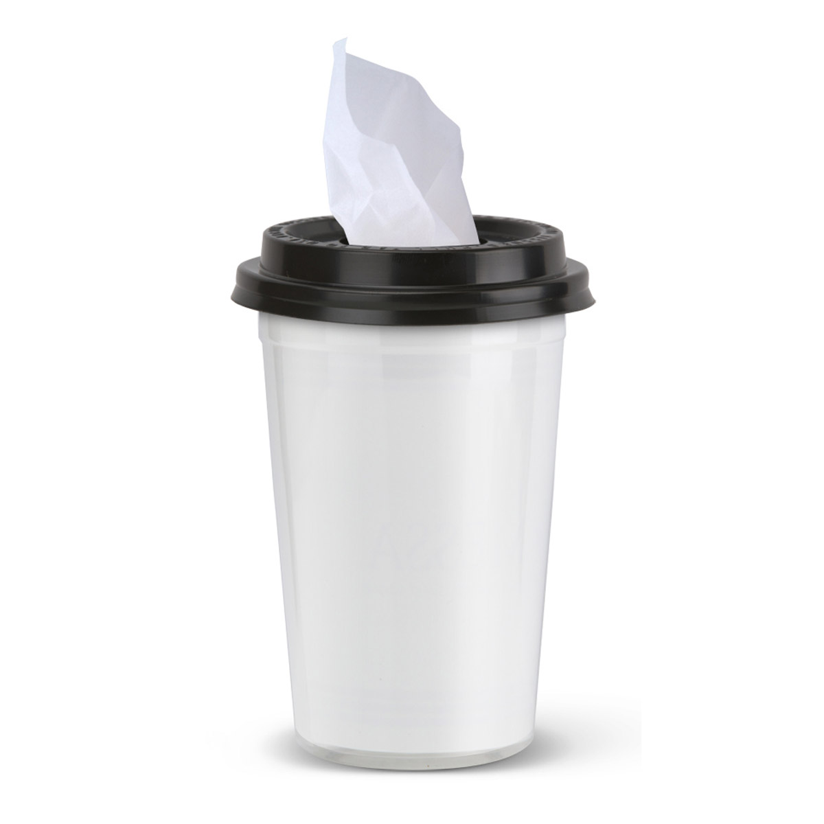 Black Tissues To Go Cup