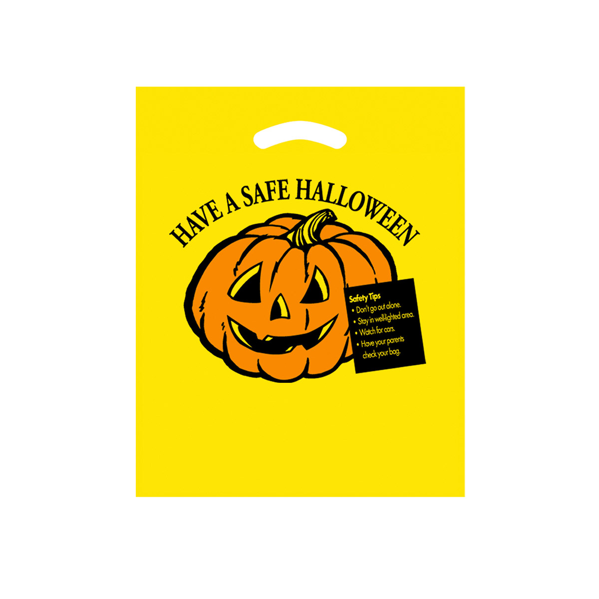Yellow Halloween Stock Design Yellow Die Cut Bag Have a Safe Halloween