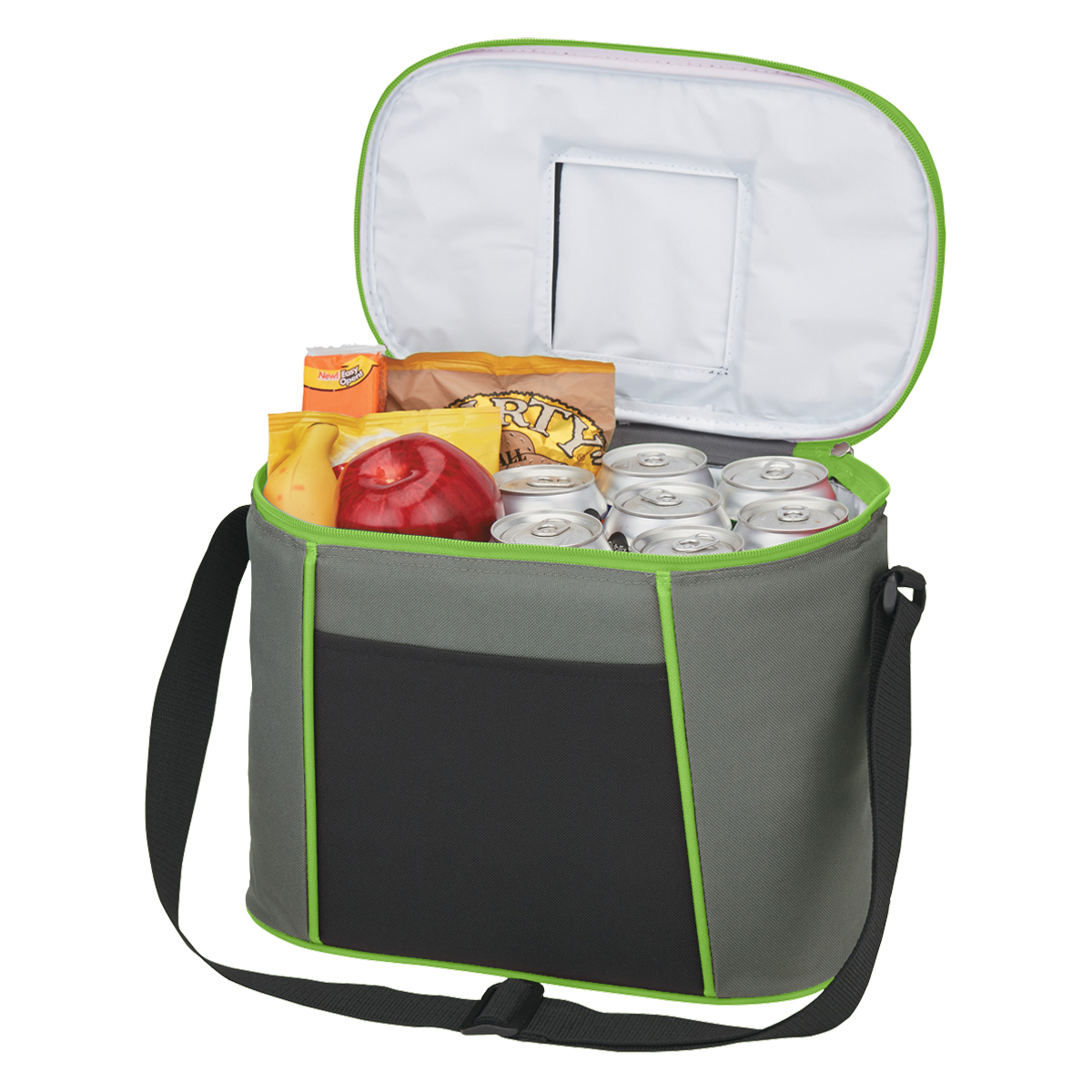 Lime Green Quick Access Cooler Bag