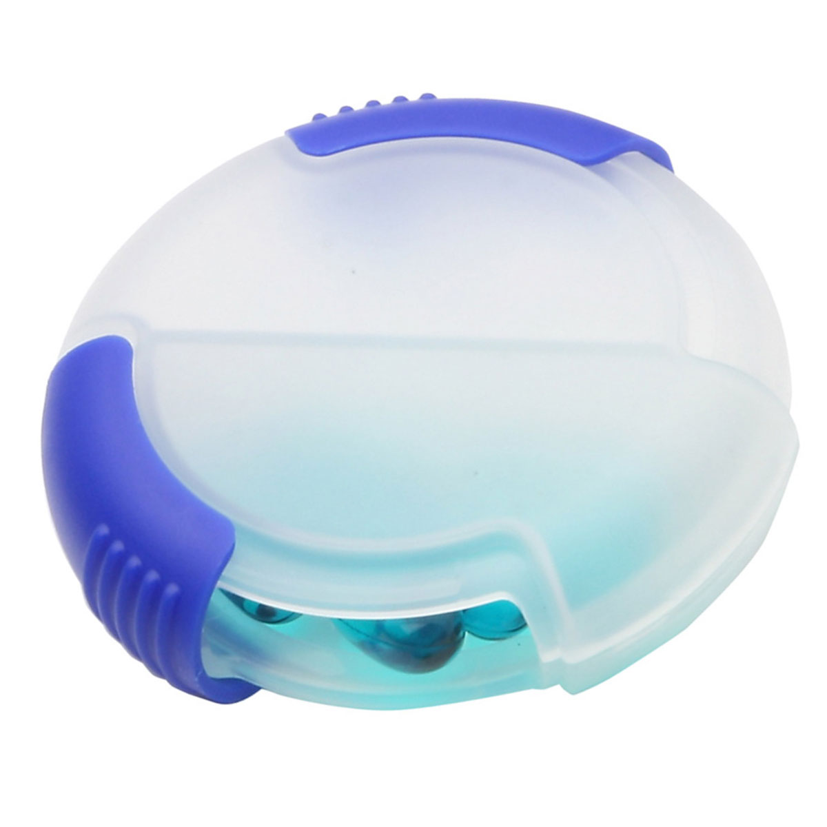 Clear/Blue Double Slide Pill Box