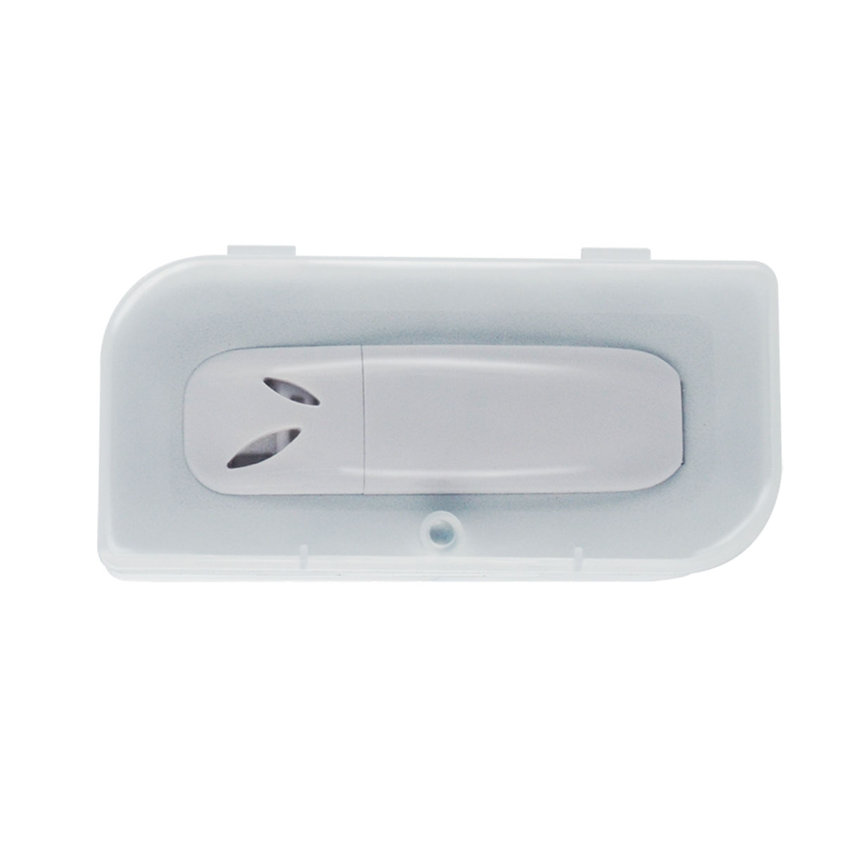 White USB Diffuser with Clear Case and Magnet Closure