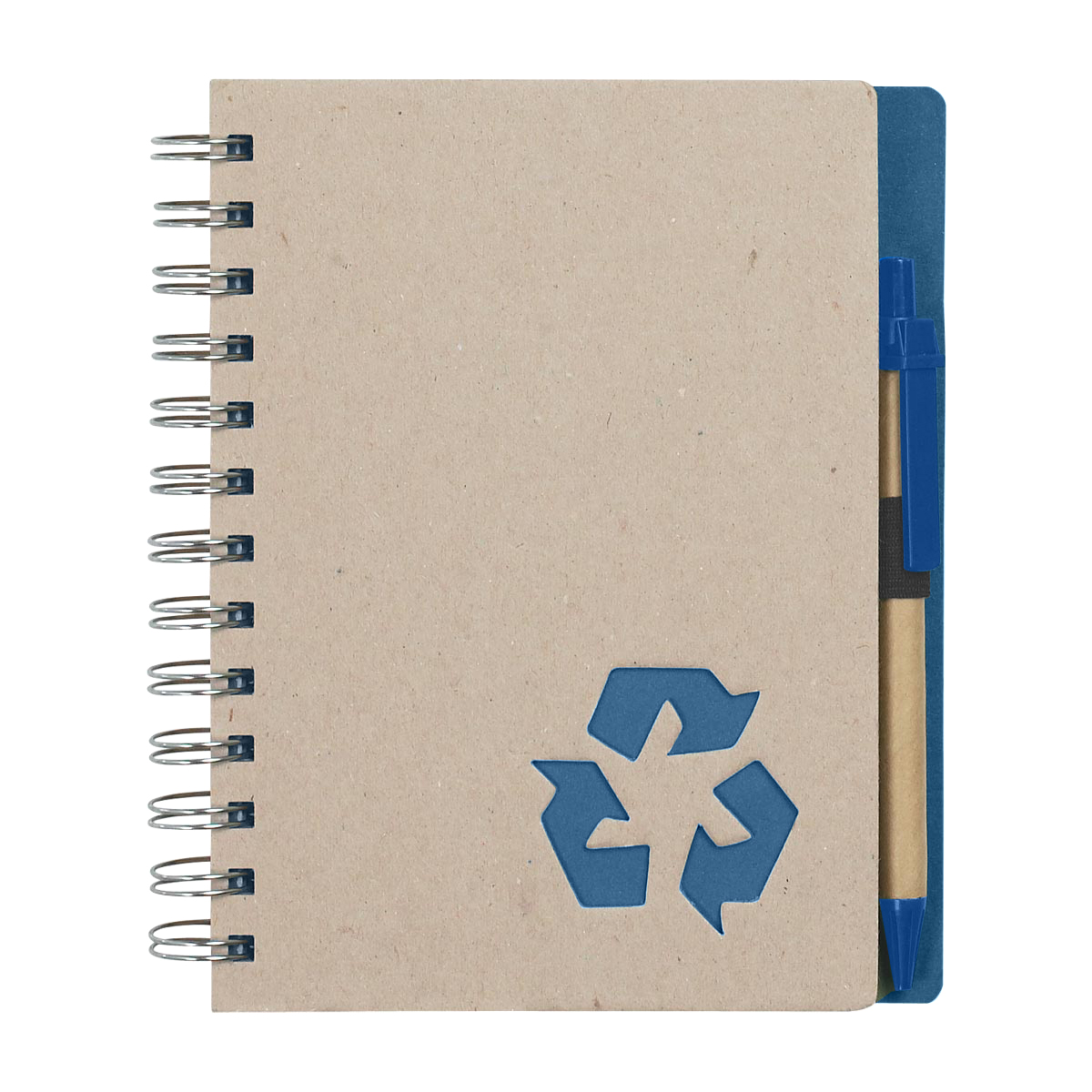 Blue Eco-Inspired Spiral Notebook & Pen