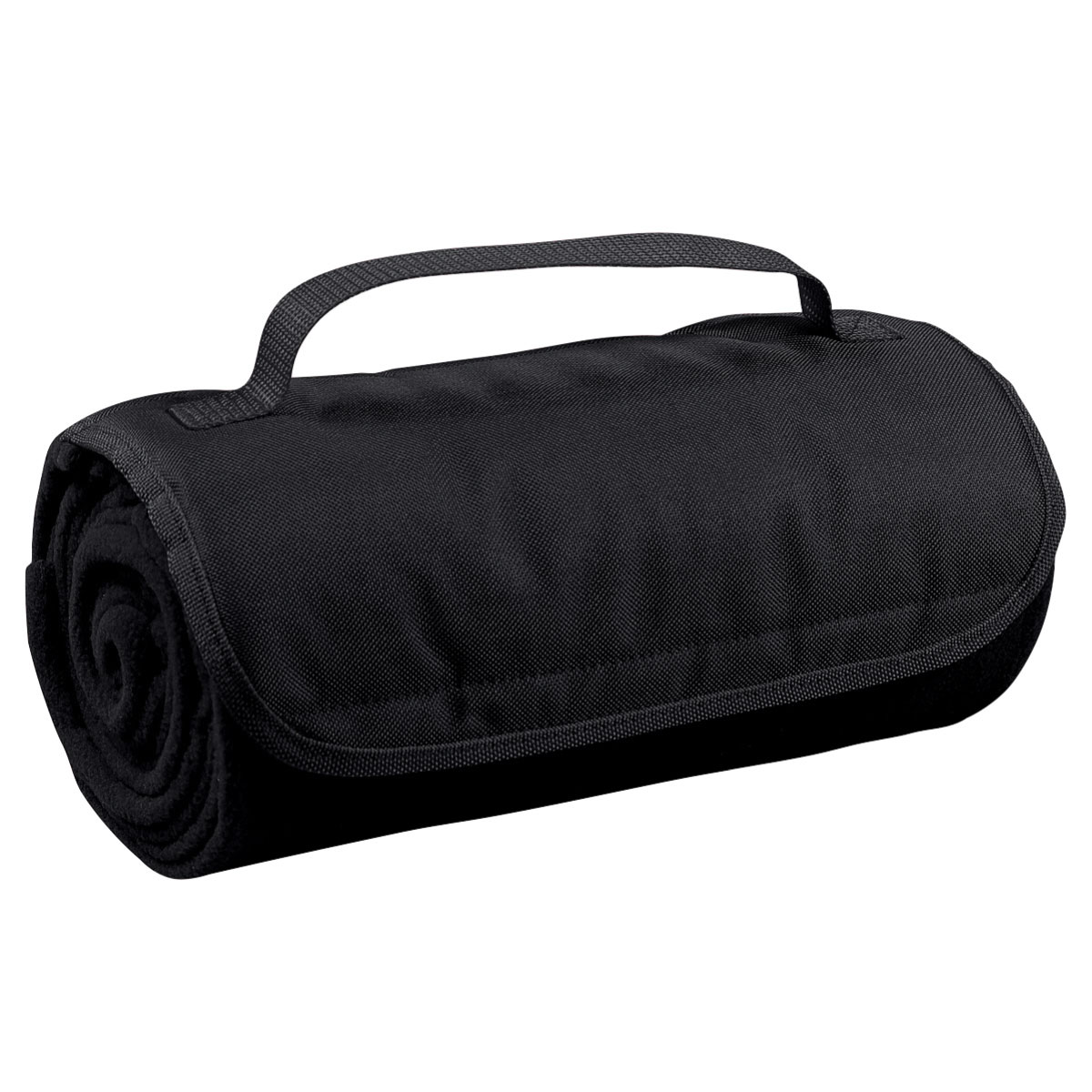 "Black Roll Up Blanket (48""W x 53""H)"