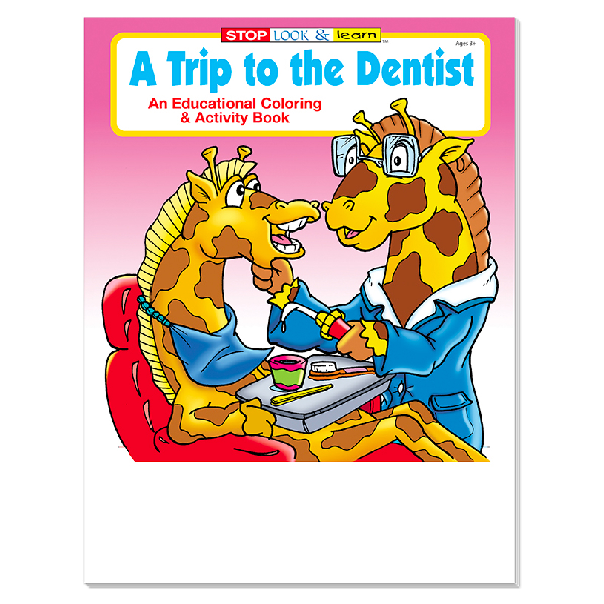 Screen Print 1 Color 1 Location Coloring Book-A Trip to the Dentist