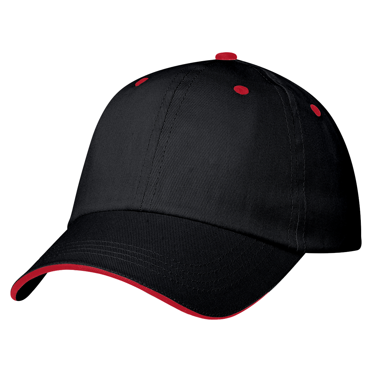 Black w/ Red Accents Price Buster Sandwich Cap