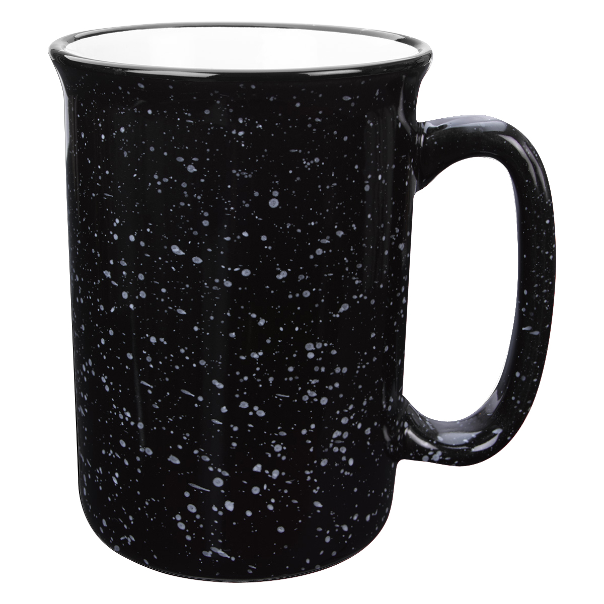 Black Tall Campfire  Mug (14 oz)