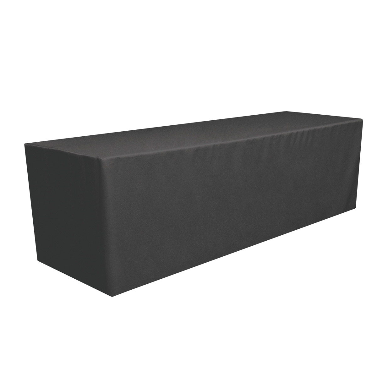 Black Fitted Table Throw (8')