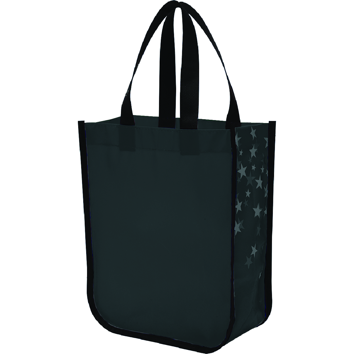 Black Star Struck Laminated Non-Woven Tote Bag