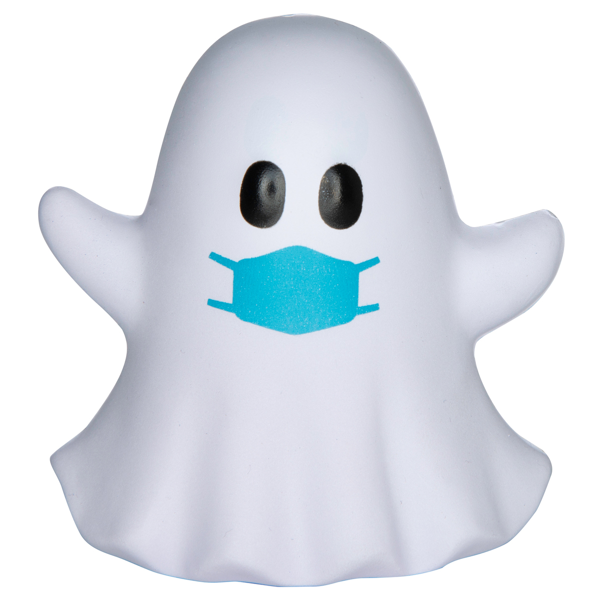 White PPE Ghost Emoji Stress Reliever