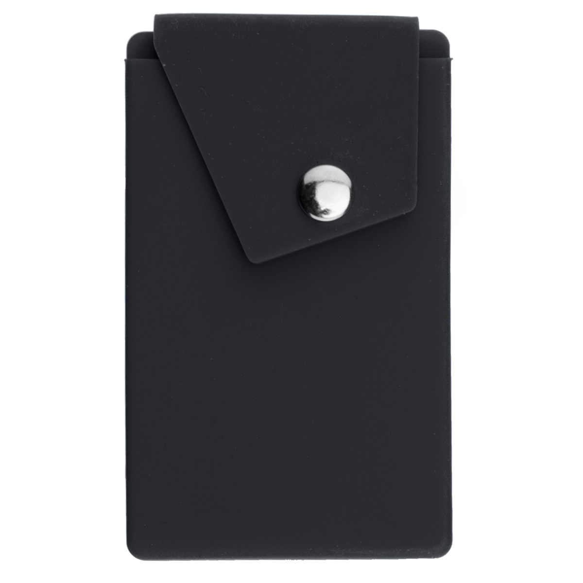 Black Silicone Phone Pocket With Stand