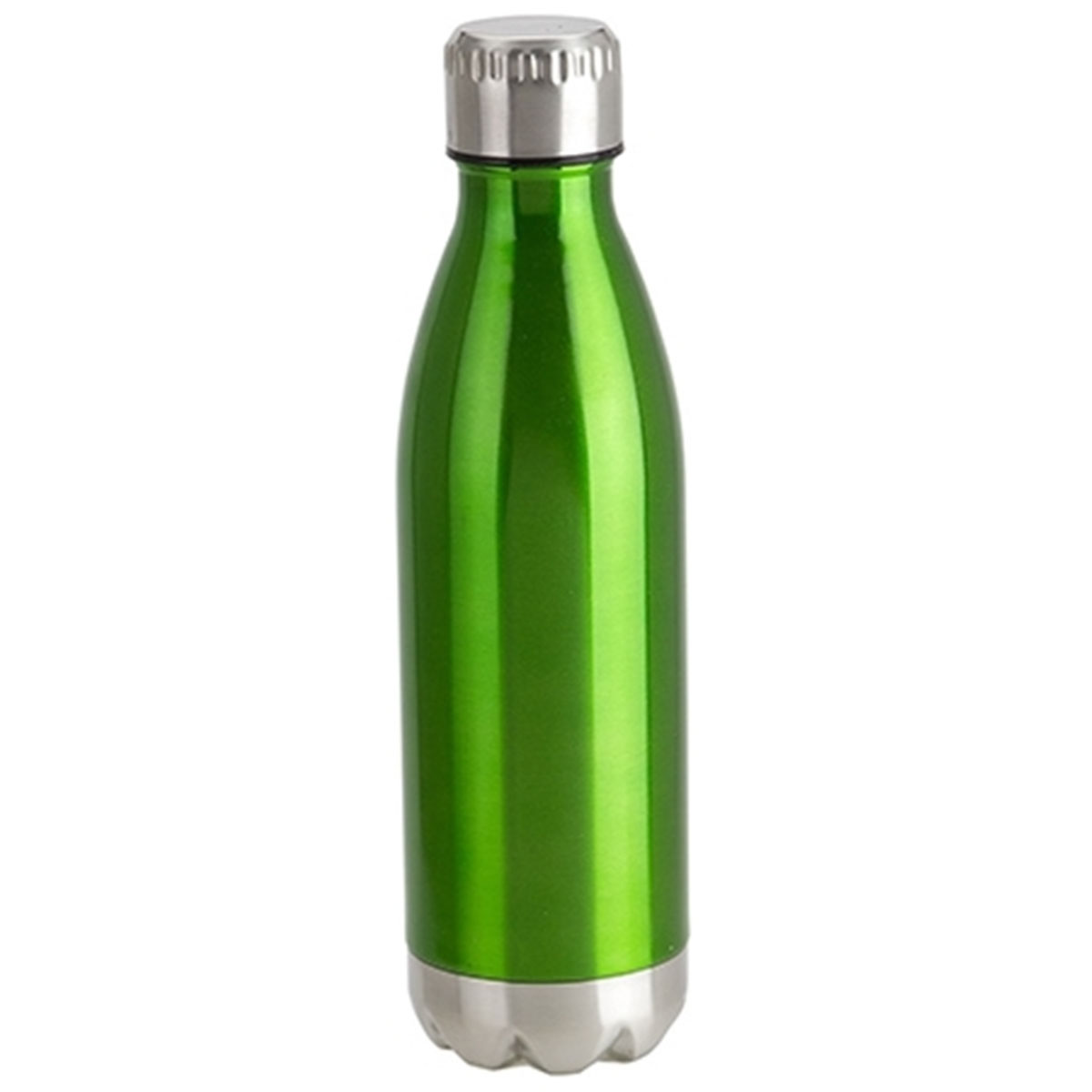 Green Bottle/Silver Lid Keep Vacuum Insulated Stainless Steel Bottle (17oz)
