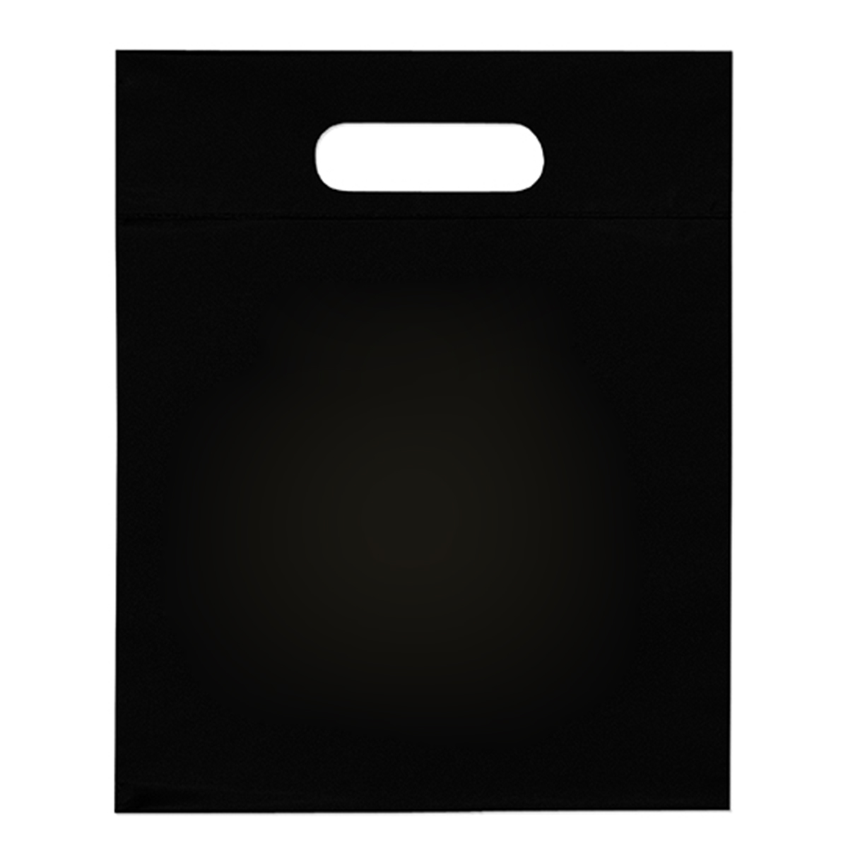 "Black Die Cut Bag (15""W x 3""D x 19""H)"