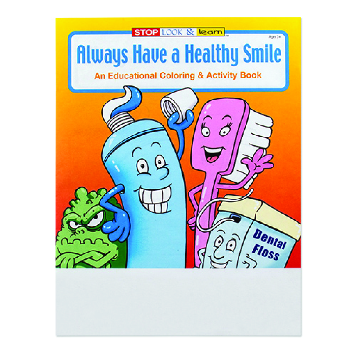 Multi Always Have A Healthy Smile Coloring Book