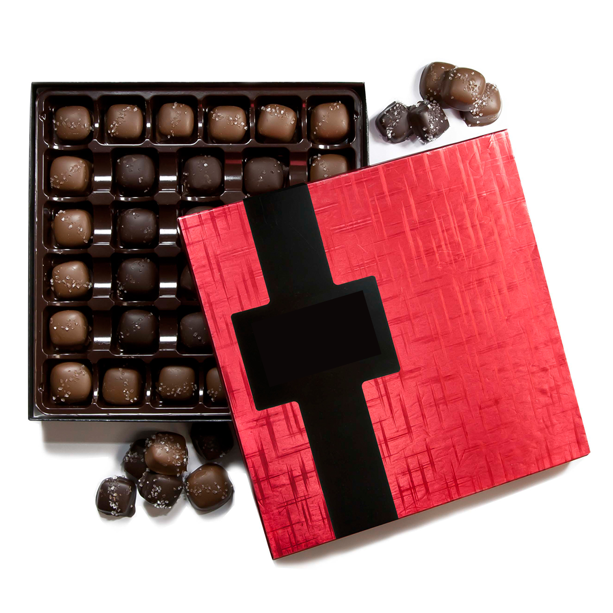 Red foiled Chocolate Box