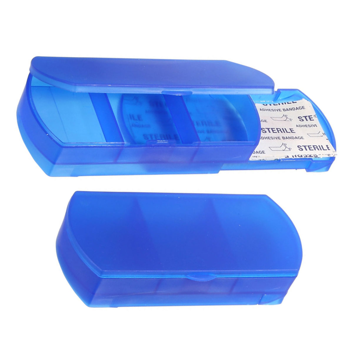 Blue Bandage Holder and Pillbox