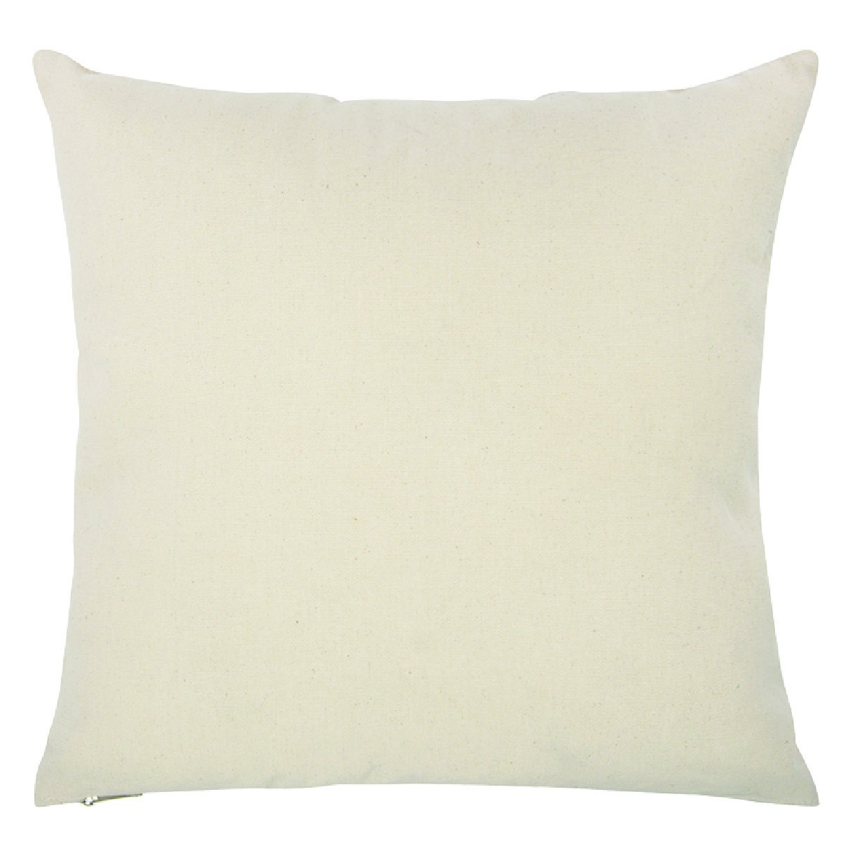 "Natural 16"" x 16"" Cotton Canvas Pillow Case"