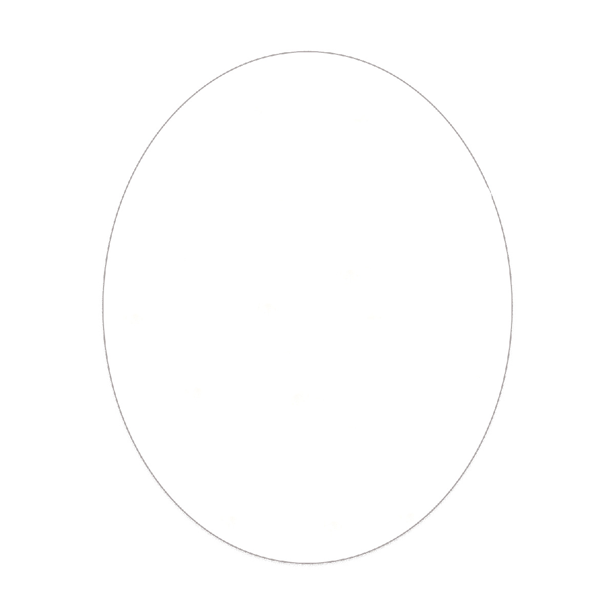 """Clear Static Vinyl Large Oval Static Window Cling (4""""x6"""")"""