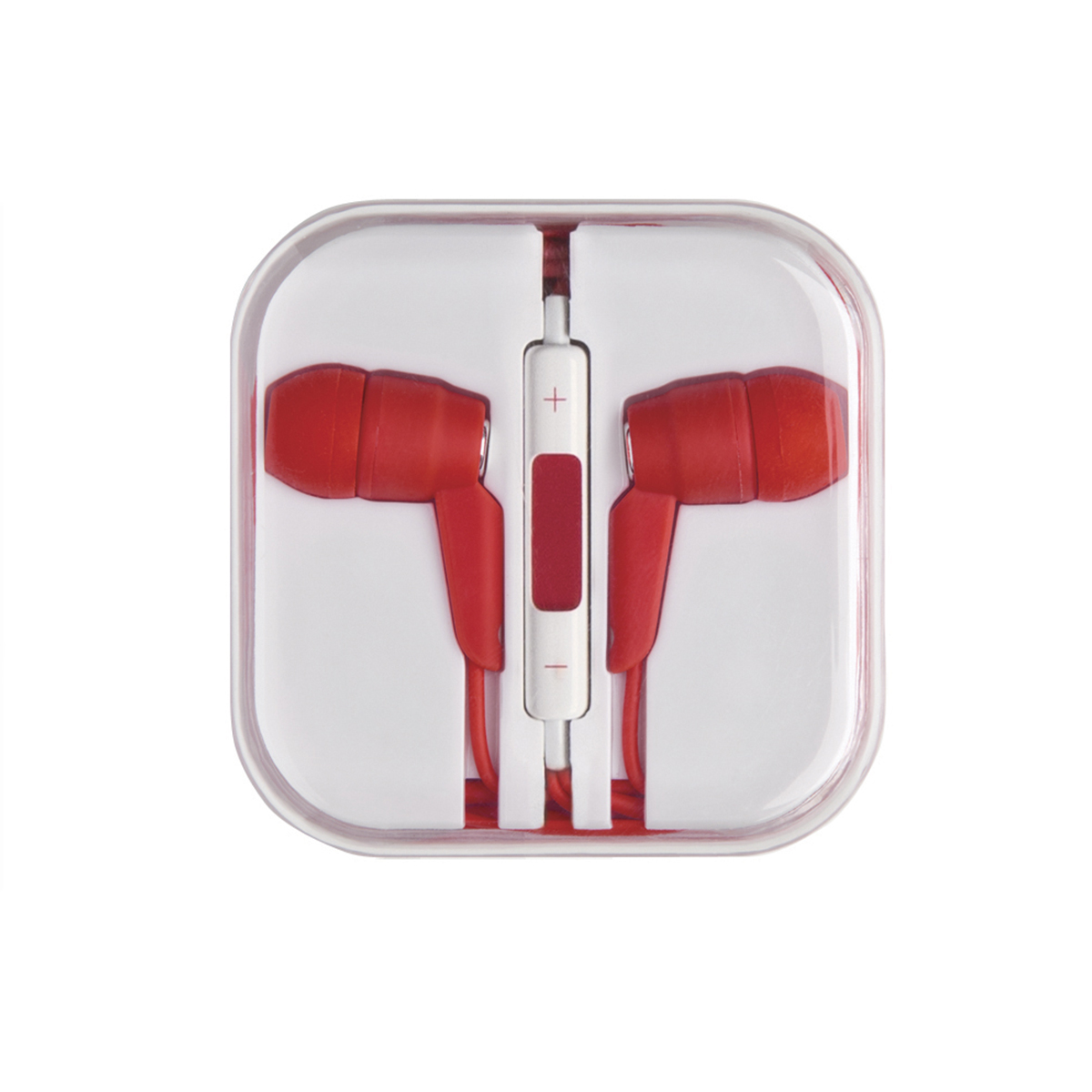 Red High Quality Stereo Earphones with Microphone