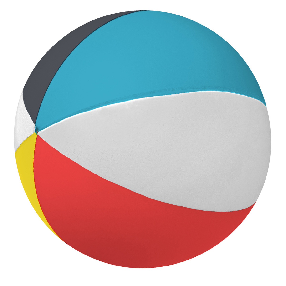 Screen Print 1 Color 1 Location Beach Ball Shape Stress Reliever
